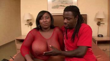 BBW Has Her Huge Black Boobs Fucked Silly